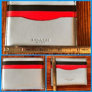 Coach color block card holder